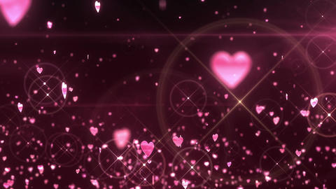 SHA Hearts Image Effects Pink CG動画