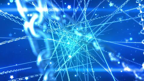 SHA Chain Particle Effects Blue CG動画