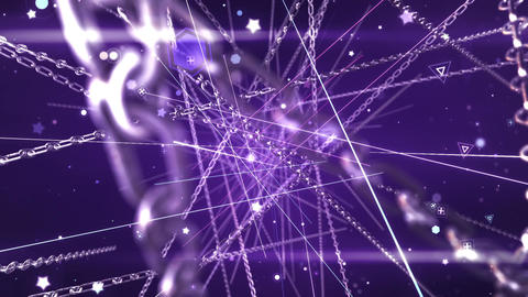 SHA Chain Particle Effects Violet Animation