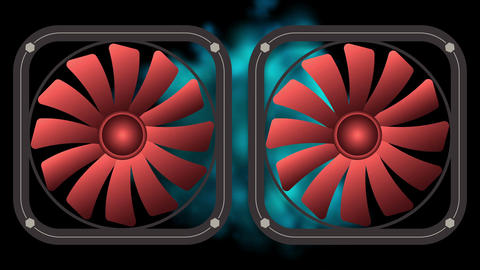 Two electric fans motion Animation