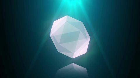 Diamond blue reflection loop Animation