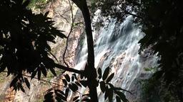 Thailand Ko Samui Island 011 waterfall close behind branches Footage