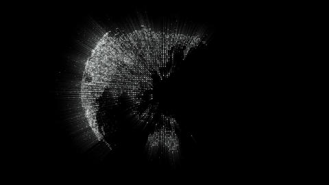 Worldmap made of particles Stock Video Footage