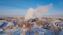 Thermal power plant, boiler house Filmmaterial
