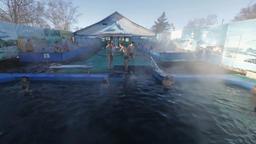 Hot spring geothermal spa on Kamchatka Peninsula Footage