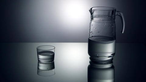 Water being poured into glass Footage