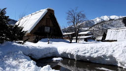 Sunny winter Shirakawago DSCF0204 Footage