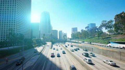 Video of highway in Los Angeles in 4K Footage