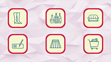 Shopping Icons / Shopping Elements After Effects Template