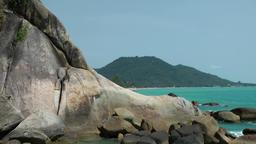 Thailand Ko Samui Island 023 famous rock, the lying phallus of grandfather Footage