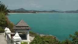 Thailand Ko Samui Island 028 Nikki Beach and surroundings from opposite site Footage