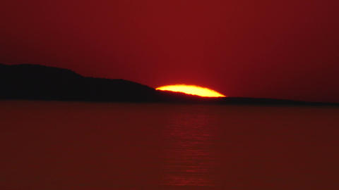 網走湾の夕景 ビデオ