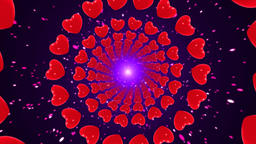 Heart shaped tunnel Animation