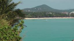 Thailand Ko Samui Island 031 famous shore of Nikki Beach Footage