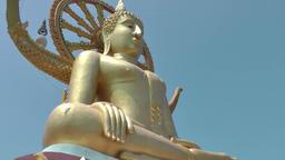 Thailand Ko Samui Island 038 closeup of big buddha statue Footage