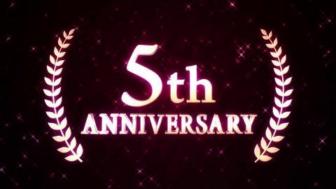 5th anniversary Stock Video Footage