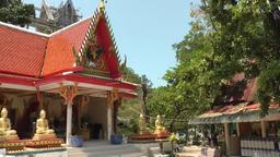 Thailand Ko Samui Island 047 one of the Wat Phra Yai temple buildings Footage