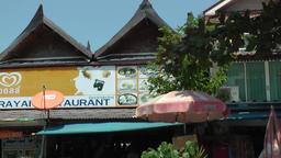 Thailand Ko Samui Island 048 a restaurant near Wat Phra Yai temple Footage