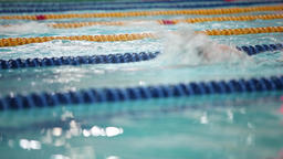 Sport swimming low angle view Footage