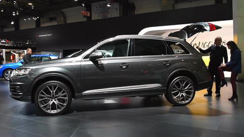 Audi Q7 full size luxury SUV car Live Action