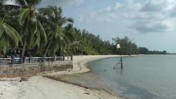 Thailand Ko Samui Island 072 shore near the harbor with natural beach Footage