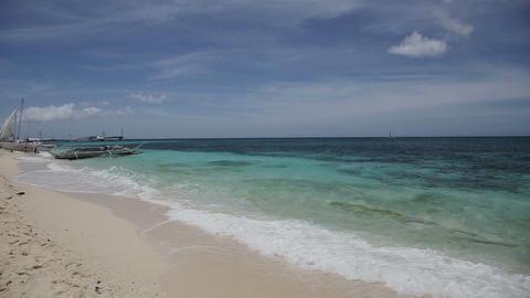 Tropical beach with blue sea Footage