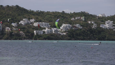 Kitesurfing on island Boracay and Bulabog Footage