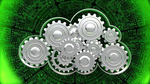 Cloud Computing In Digital Tunnel stock footage