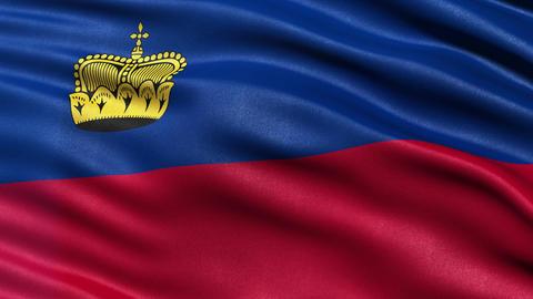 4K Liechtenstein flag seamless loop Ultra-HD Animation