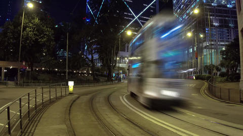 Timelapse view of central Hong Kong city Footage