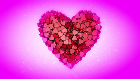 Happy Valentine's Day. 3D animation Stock Video Footage