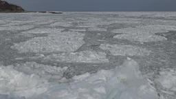 Floating ice in the sea near the shore Footage