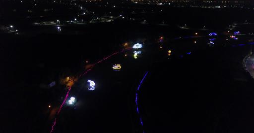DJI MAVIC 4K Taiwan Tainan Aerial Drone Video Yue Jin Harbor Par kLantern Festiv Footage