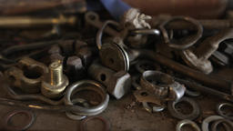 Rusty nuts, bolts and tools Footage