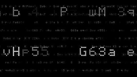 Number digital 2017 1 AsP BW 4K Animation