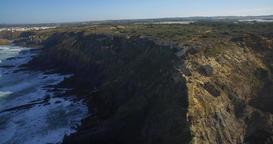 Aerial, Atlantic Coast Line, Portugal Footage