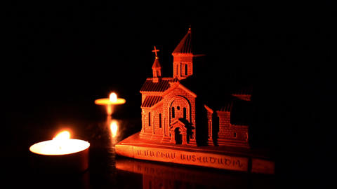 Candle and Church 2 CG動画素材