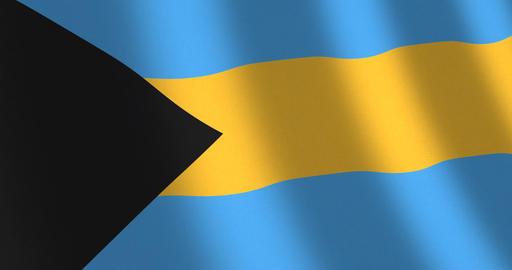 Flag Bahamas moving wind Animation