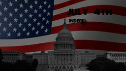 Independence Day USA (mini opener footage) Animation
