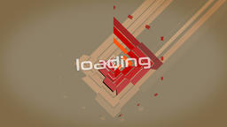 Vector color spinning abstract geometric banner. Retro style. Loop. Version with Animation
