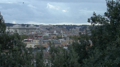 Panoramic view of Rome. Zoom Stock Video Footage