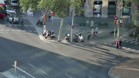 Timelapse of Barcelona streets Footage