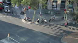Timelapse of Barcelona streets Stock Video Footage