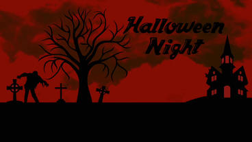 Black&Red Halloween opener&your logo Plantilla de Apple Motion