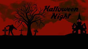 Black&Red Halloween opener&your logo Plantilla de Apple Motion
