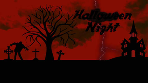 Black&Red Halloween opener&your logo Apple Motion Template