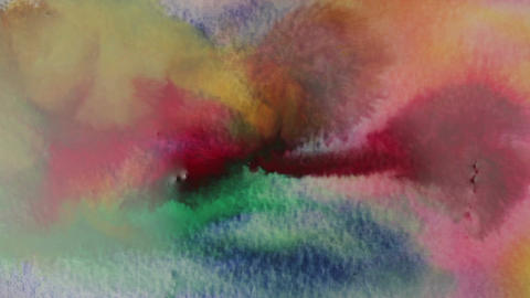 Mixing watercolors for painting. Abstract colors Live Action