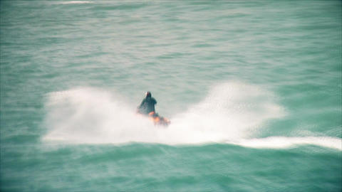 Jet ski in the sea Footage