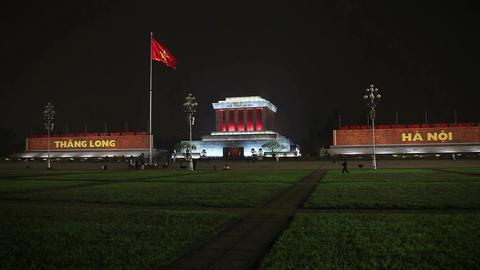 Ho Chi Minh Mausoleum Vietmam Footage