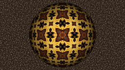 Abstract decorative video with rotating brown sphere Animation